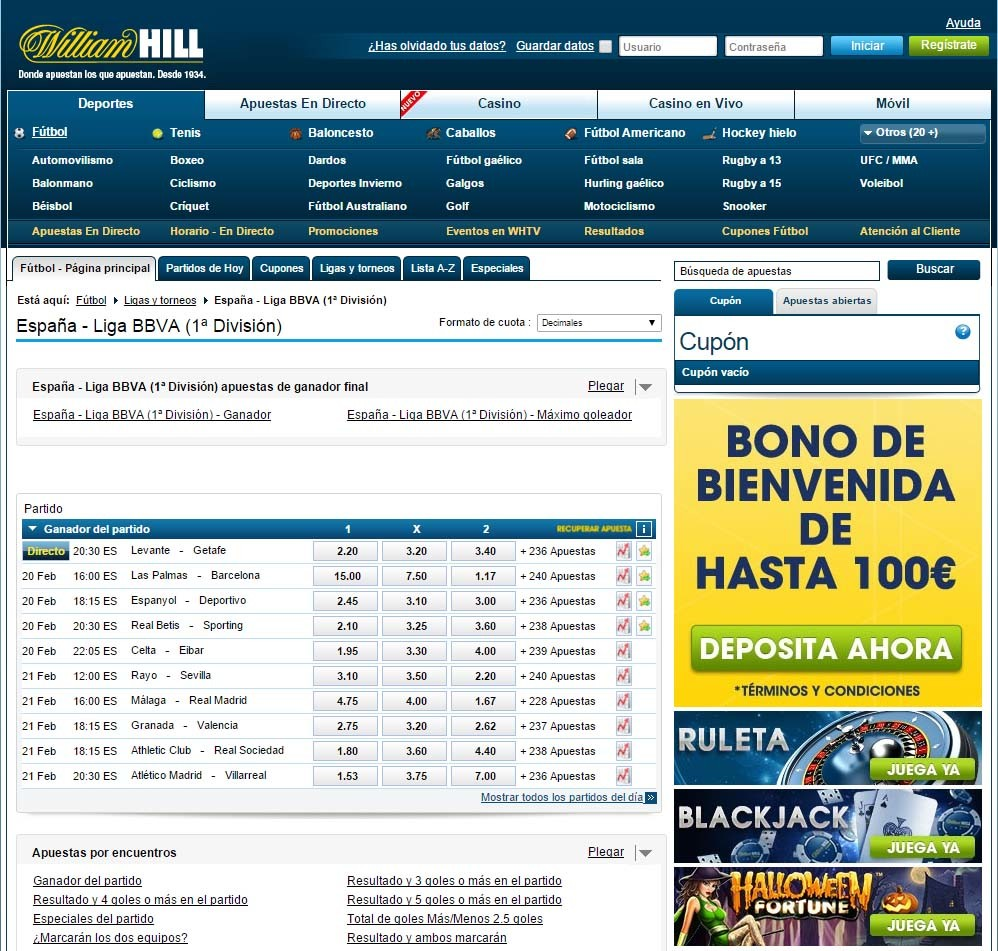 opiniones william hill 2016