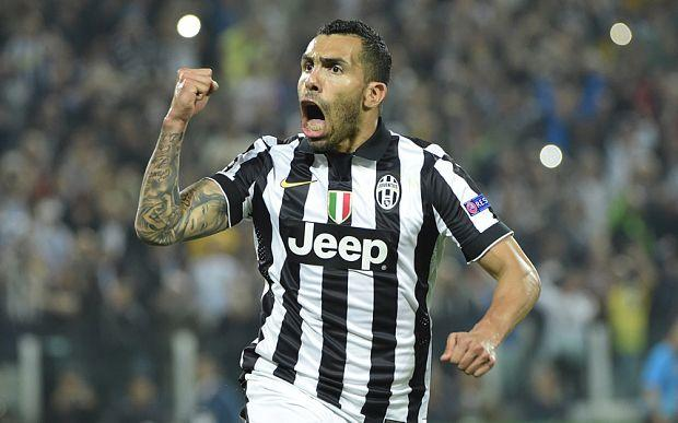 juventus real madrid tevez