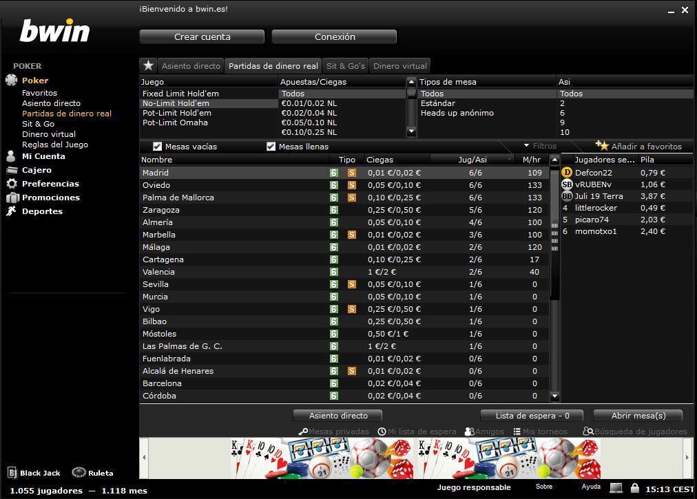 bono bwin poker