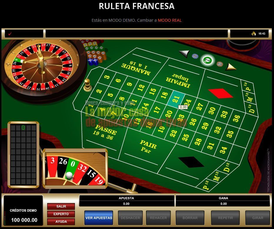 luckia ruleta francesa