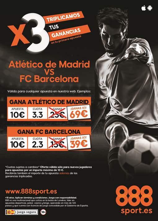 triple cuota 888 atletico barcelona
