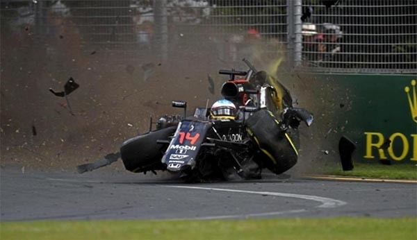 accidente alonso australia 2016