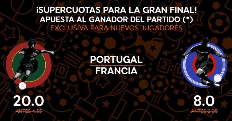 888 sport cuotas final eurocopa francia portugal