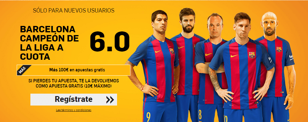 barcelona campeon liga cuota 6 betfair 2