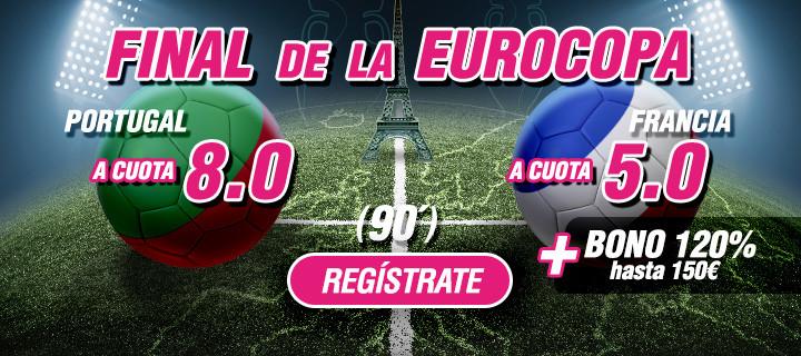 wanabet final eurocopa francia portugal