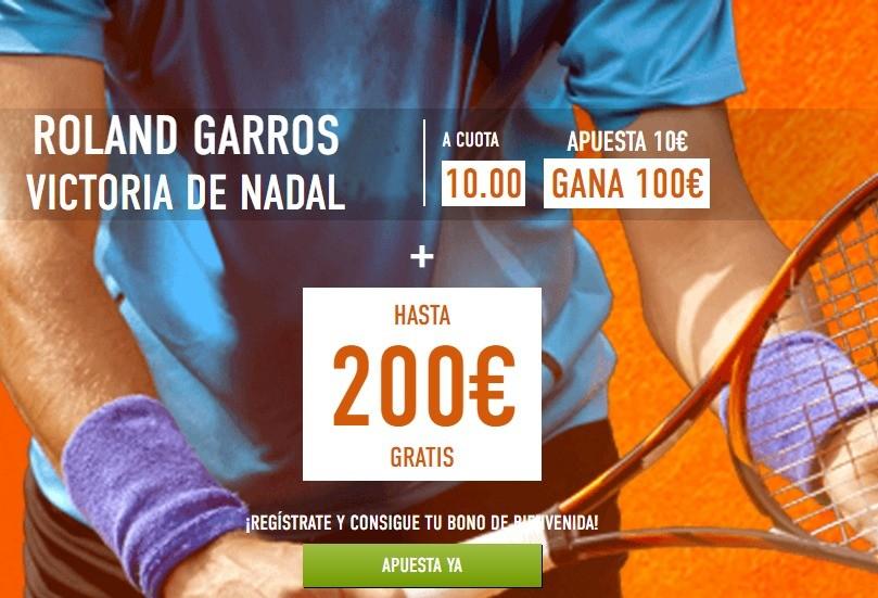 Nadal gana Roland Garros a cuota 10