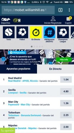 william hill app movil