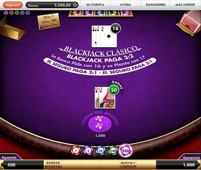 blackjack botemania