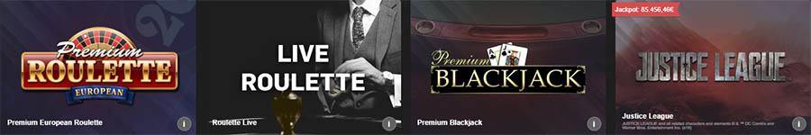 variedad de juegos disponibles betfair casino