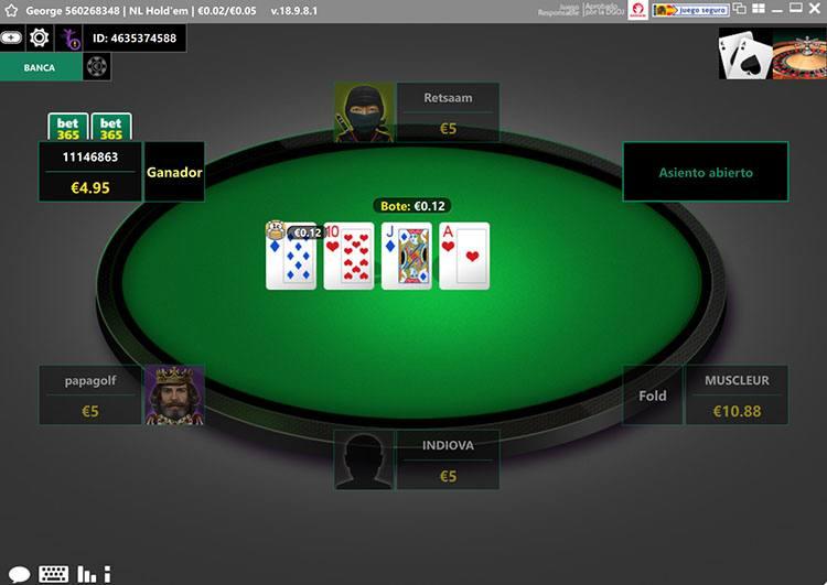 bet365 poker mesa