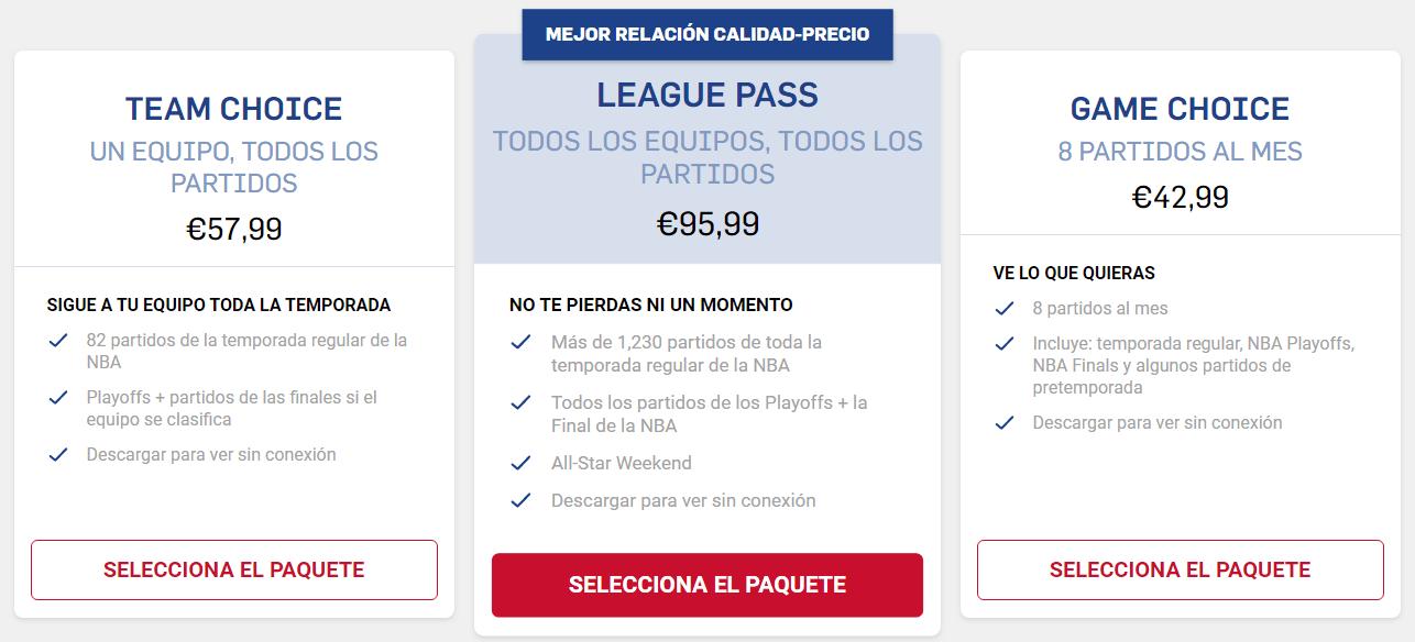 precios nba league pass