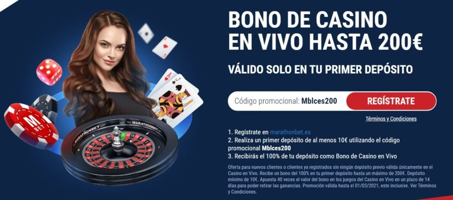 marathonbet bono de casino en vivo